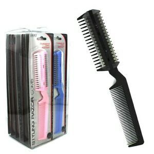 Salon Barber Styling Razor Comb W/Built in Comb (Choose Your Color)
