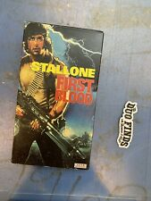 Stallone First Blood VHS 1982 movie RARE AVID Home Entertainment production