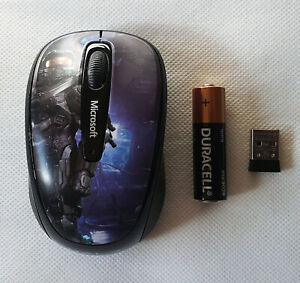 ULTRA RARE Microsoft Wireless 3500 Mouse [Limited HALO Edition] [Used] Free S&H!