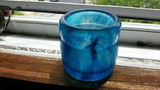 Epoxy Resin Jar blue and black swirl