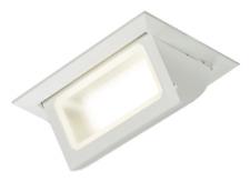 Knightsbridge 230V 30W blanc rectangulaire encastré LED Lèche-mur réglable IP40