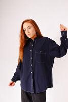 Vintage Wrangler Denim Shirt Navy (L)