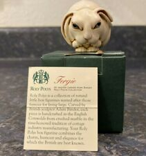 "New Harmony Kingdom ""Fergie"" Roly Polys Tjrpra England 2000 Retired Rabbit"