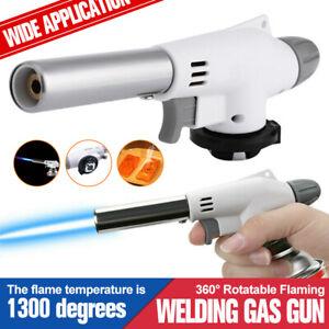 Flame Gun Gas Butane Blow Torch Burner Welding Solder Iron Soldering Lighter