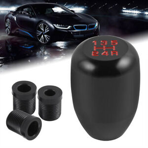 Shift Knob Shifter Aluminum Gear 1 2 3 4 5 Speed and Adapters 8mm 10mm 12mm