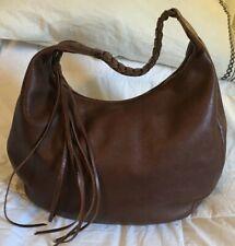 BANANA REPUBLIC Brown Leather Hobo Handbag Purse Bag-NICE