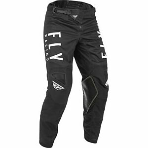 2021 Fly Racing Kinetic Mesh Pants Adult Black/White Motocross Offroad MX ATV