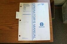New Holland 190 195 Manure Spreader Operators Manual