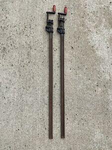 Lot Of 2 Vintage Cincinnati Tool Co. 640 - 55 INCH Hargrave Bar Clamps