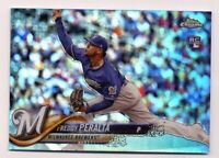 2018 Topps Chrome Update FREDDY PERALTA Rookie RC HMT93 REFRACTOR #/250 Brewers