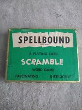 Vintage 1954 Spellbound Playing Card Scramble Word Game * COMPLETE * FREE SHIP*
