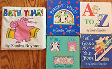 Sandra Boynton Books - Set of 5 - A To Z, Barnyard Dance!, Going to Bed