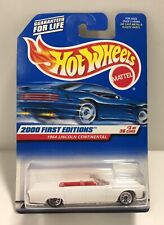 Hot Wheels #3 Of 36 White 1964 Lincoln Continental Die-Cast Metal Car Mattel Nos