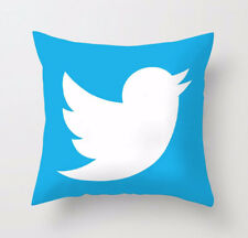 Luxury Microfibre Social Media Cushion Covers Decorative Pillow Cover 18 X 18 Twitter With Filling