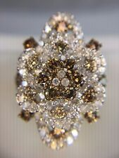 Estate 14k Yellow Gold Fancy Brown Color Diamond HUGE Cocktail Ring 3.00 Carats