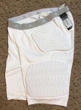 Mens Adidas Techfit White Padded Basketball Football Shorts Base Layer Sz 2Xl