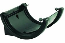 FLOPLAST 112mm Half Round Fascia Gutter Union Bracket - Black - PACK OF 2