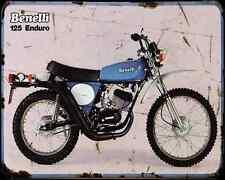 Benelli 125 Enduro 80 01 A4 Metal Sign Motorbike Vintage Aged