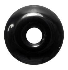 Schwarzer Obsidian Donut Anhänger Edelstein 40mm Scheibenstein PiStein Heilstein