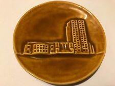1996 North Dakota Pottery Collectors Commemorative Prairie Fire Tama Small Plate