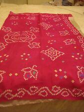 Damas/Niñas de Sari de seda pura Jaipur Crepe