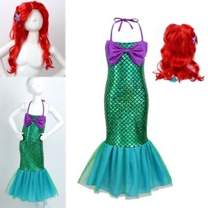 Toddler Kids Mermaid Set Girl Princess Fancy Dress Party Cosplay Costume Outfit