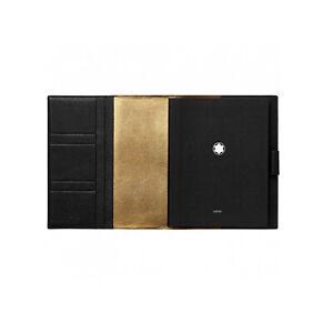 Montblanc Meisterstuck Soft Grain My Office Medium Black & Gold Notebook #124129