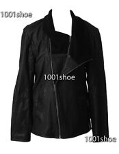 new RRP$600 WITCHERY MENS BLACK LEATHER COAT JACKET s L last