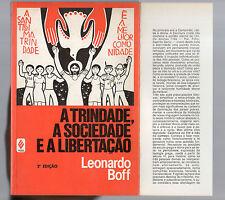 a trinidade,a societade e a libertacao - leonardo boff.