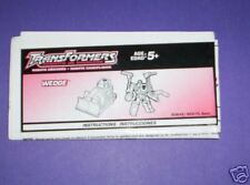 Transformers RID Wedge Instructions Sheet