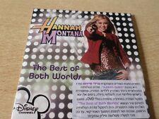 MILEY CYRUS HANNAH MONTANA PROMO CD RARE   ISRAELI best of two worlds