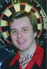 Keith DELLER Signed 12x8 Autograph Photo AFTAL COA Darts PDC BDO Winner