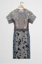 NWT Anthropologie Belleza Lace Sheath Dress sz 16W Byron Lars Gray $358 Wedding