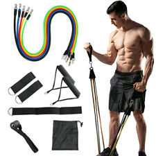 11 Pieces Resistance Trainer Set Exercise Fitness Tube Gym Workout Bands Yoga