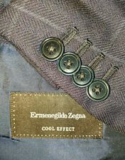 RECENT Zegna Mila Cool Effect Men's Navy Wool Windowpane Blazer Sport Coat 50R