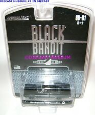 1964 '64 PLYMOUTH FURY CONVERTIBLE BLACK BANDIT DIECAST GREENLIGHT RARE
