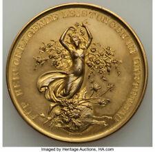 "Germany: Wilhelm Ii Gilt-Bronze Proof ""Horticulture Award"" Medal 1900"
