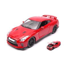 NISSAN GT-R 2017 RED 1:24 Burago Auto Stradali Die Cast Modellino