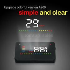 "A200 3.5"" Universal Car GPS HUD Head Up Display+OBD2 Interface OverSpeed Warning"
