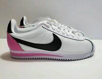 Nike Classic Cortez PRM White Black Pink Women's Running Shoes Sz 6 (905614-106)