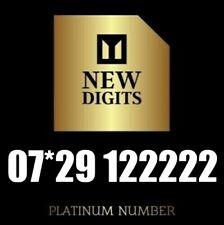 GOLD MEMORABLE VIP EASY RARE BUSINESS MOBILE PHONE NUMBER SIM CARD 222222