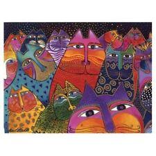 Laurel Burch Canvas Fantasticats Cat 12x16 Wall Art