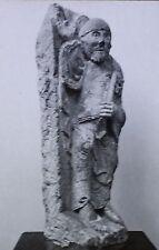 St. Peter, 12th Century French Sculpture, Magic Lantern Glass Slide