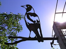 MAGPIE STAKE METAL ART ORNAMENT SCULPTURE OUTDOOR GARDEN DECORATION !!
