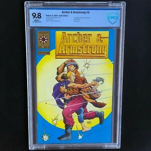 Archer and Armstrong #0 GOLD VARIANT 💥 CBCS 9.8 & White Pgs 💥 Valiant 1992