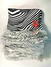 NEW! Lot of 36 X Estee Lauder Black White Color Play Makeup Cosmetic Bags