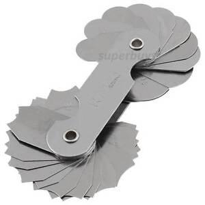 7 - 14.5mm Radius Fillet Gauge Gage External Internal Concave Measurement Tool