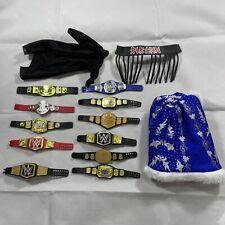 WWE ACTION FIGURE BELT LOT 11belts