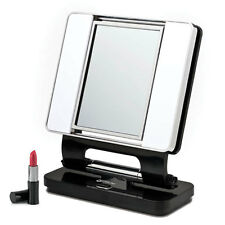 Ott Lite Natural 5X-1X Lighted Magnifying Makeup Mirror: Black, Makeup, Beauty