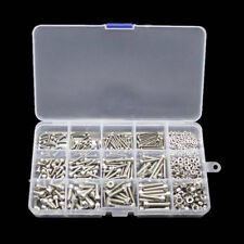 480pcs M2 M3 M4 Metric Hex Socket Head Cap Screw Bolts Nuts Assorted Box Kit Set